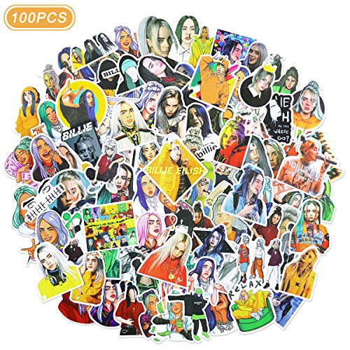 Singer Billi_e Eilish Stickers for Laptops and Water Bottles 100 Pcs
