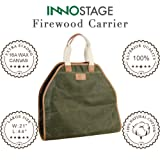 INNO STAGE Canvas Log Carrier Bag,Waxed Durable
