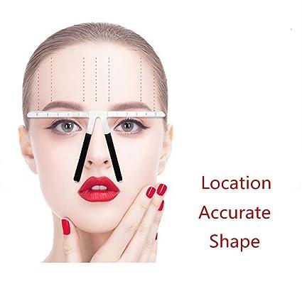 Skymore - Regla de cejas de tatuaje, herramientas de medición de ...