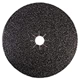 Mercer Industries 426100 Silicon Carbide Floor Sanding Disc, Cloth Back, 16'' x 2'' Hole, Grit 100X, 20-Pack