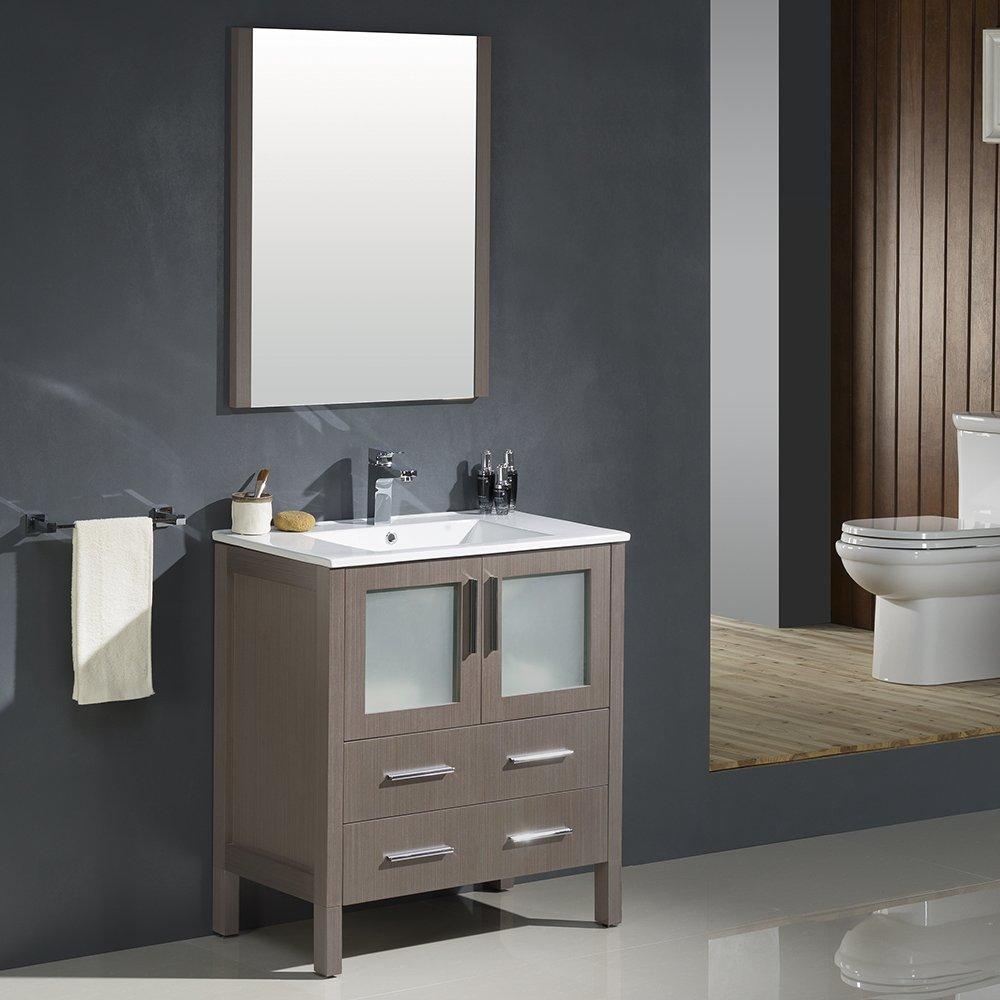 Gray Oak Fresca Bath Fvn6230go Uns Torino 30 Modern Bathroom Vanity With Integrated Sink Bathroom Fixtures Tools Home Improvement Fcteutonia05 De