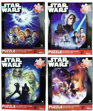 Star Wars Classic Original 100 Piece Jigsaw Puzzles (Set of 4)