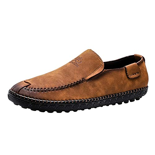 Mocasines Hombre Classic Nubuck Slip on Retro Artesanal Conducción Viajar Zapatos: Amazon.es: Zapatos y complementos