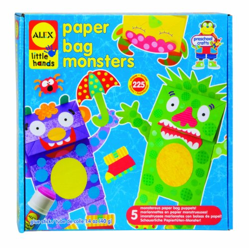 Paper Plate Craft - ALEX Toys Little Hands Paper Bag Monsters