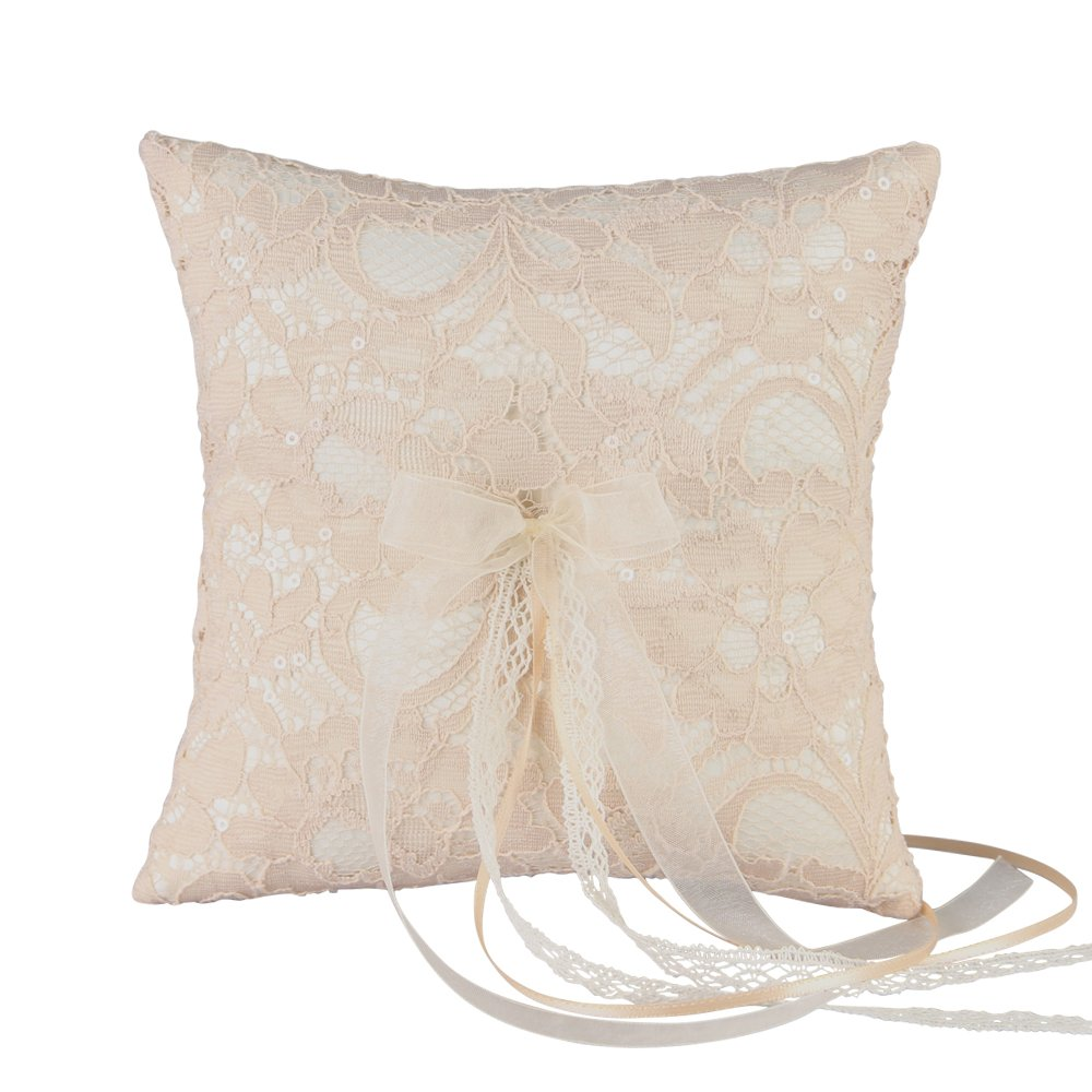 Adelaide Wedding Collection, Ring Pillow, Ivory by Ivy Lane Design