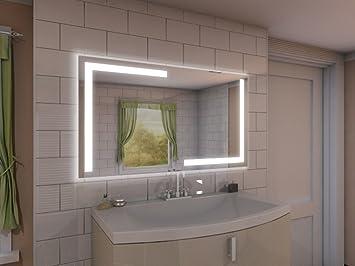 Badspiegel mit Beleuchtung Korlin M202L4: Design Spiegel für ...