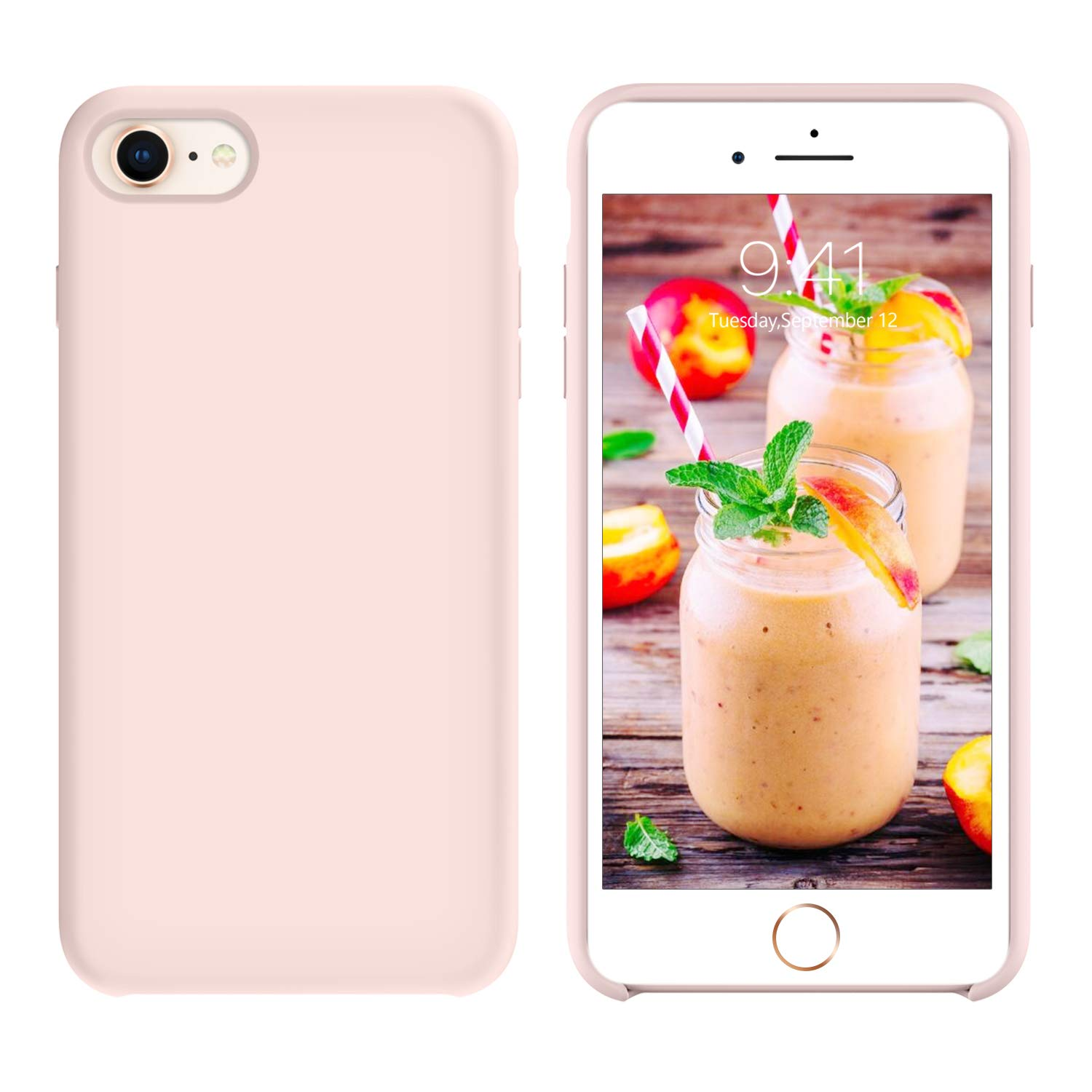 GUAGUA iPhone 8 Case iPhone 7 Case Liquid Silicone Gel Rubber Cover with Soft Microfiber Cloth Lining Cushion Slim Fit Lightweight Shockproof ...