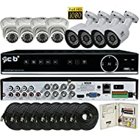 CIB Hybrid HD-TV/AHD/IP/Analog 8CH 1920TVL 1080P ,DVR security system, w/ 2TB HDD,HDMI 4K/1080P Output,8x2.1Megapixel Vandal Bullet Dome Color Cameras -THZ80P08K2T56W-03W-8KIT