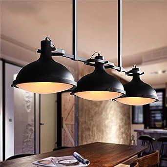 Fantastique LIL Loft industriel créatif trois lustre billard table restaurant JP-19