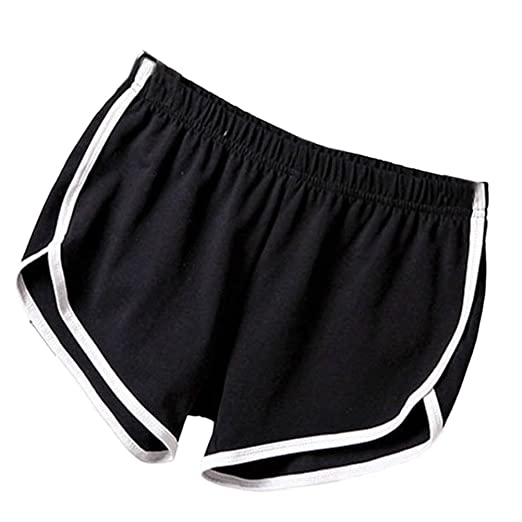 5de61f4b97ae Soly Tech Women Summer Sports Shorts Gym Workout Waistband Skinny Shorts  Pants Black