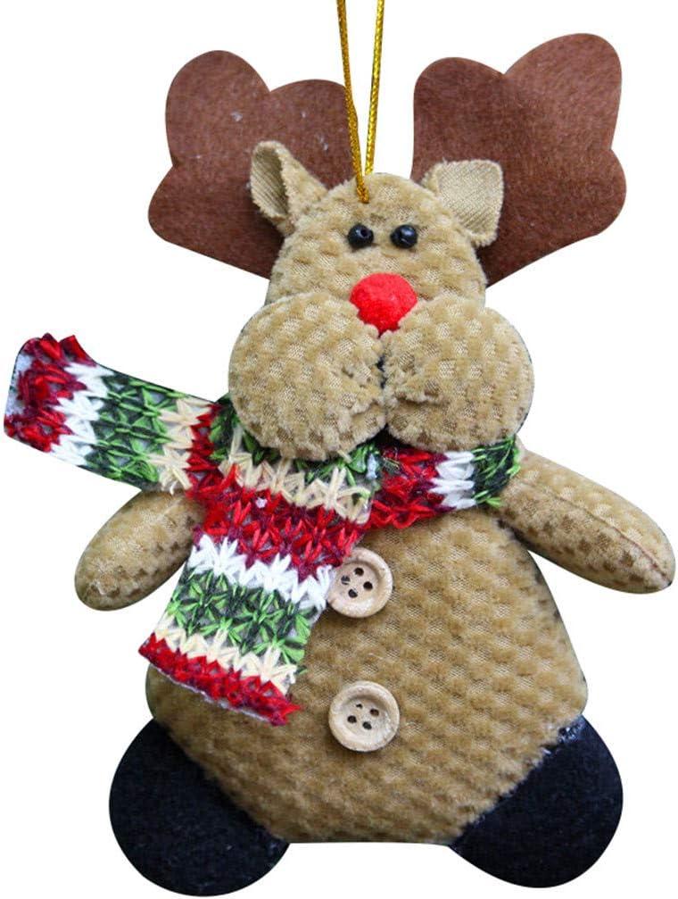 Christmas Santa, Snowman, Reindeer Plush Hanging Ornament Xmas Tree Ornaments Home Decors Reusable Hand-held Gift