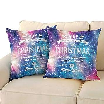 Amazon.com: Godves Fundas de Almohada Navidad Pixel Patrón ...