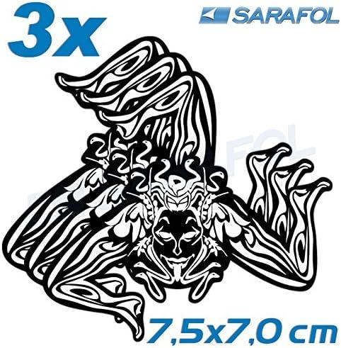3x Trinacria Sizilien Aufkleber Nr 026 White Black 7 5x7 0cm Sicilia Adesivo Sicily Sticker Auto