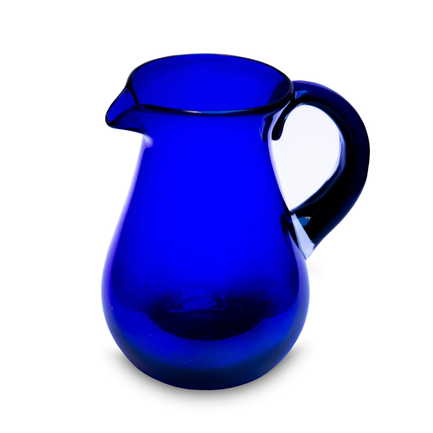 carafe pear blue water carafe 21.5 cm mouth-blown glass made from Mexico jug jug glass recycling Mitienda glass manufacturer handmade