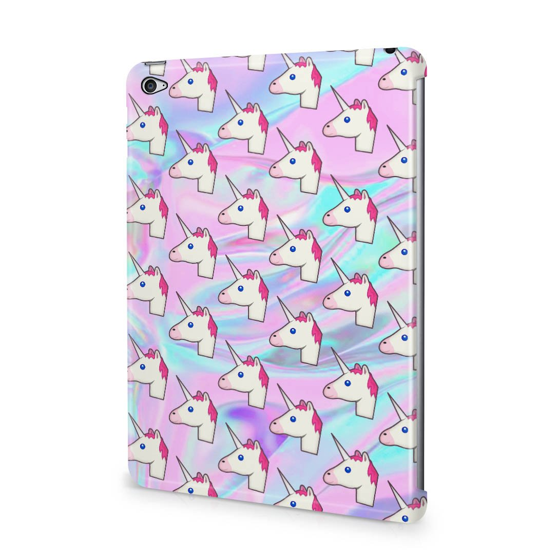Cute Pastel holográficos Trippy Unicorn Emoji patrón Apple ...