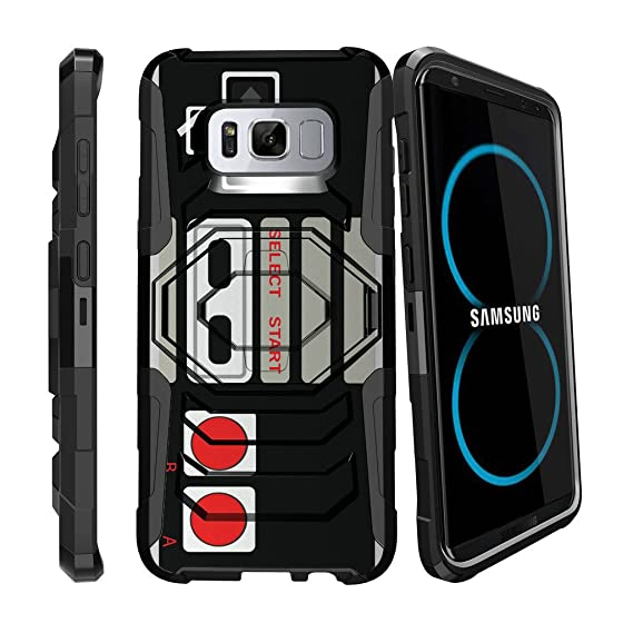 promo code 88dbe 1eb00 MINITURTLE Case Compatible w/ S8 Hard Case| Samsung Galaxy S8 Controller  Case| SMG950 Case[Armor Reloaded] Rugged Impact Protector Case + Clip  Holster ...