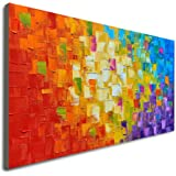 Seekland Art Hand Painted Texture Large Oil Painting on Canvas Modern Abstract Huge Wall Art for Living Room Decor…