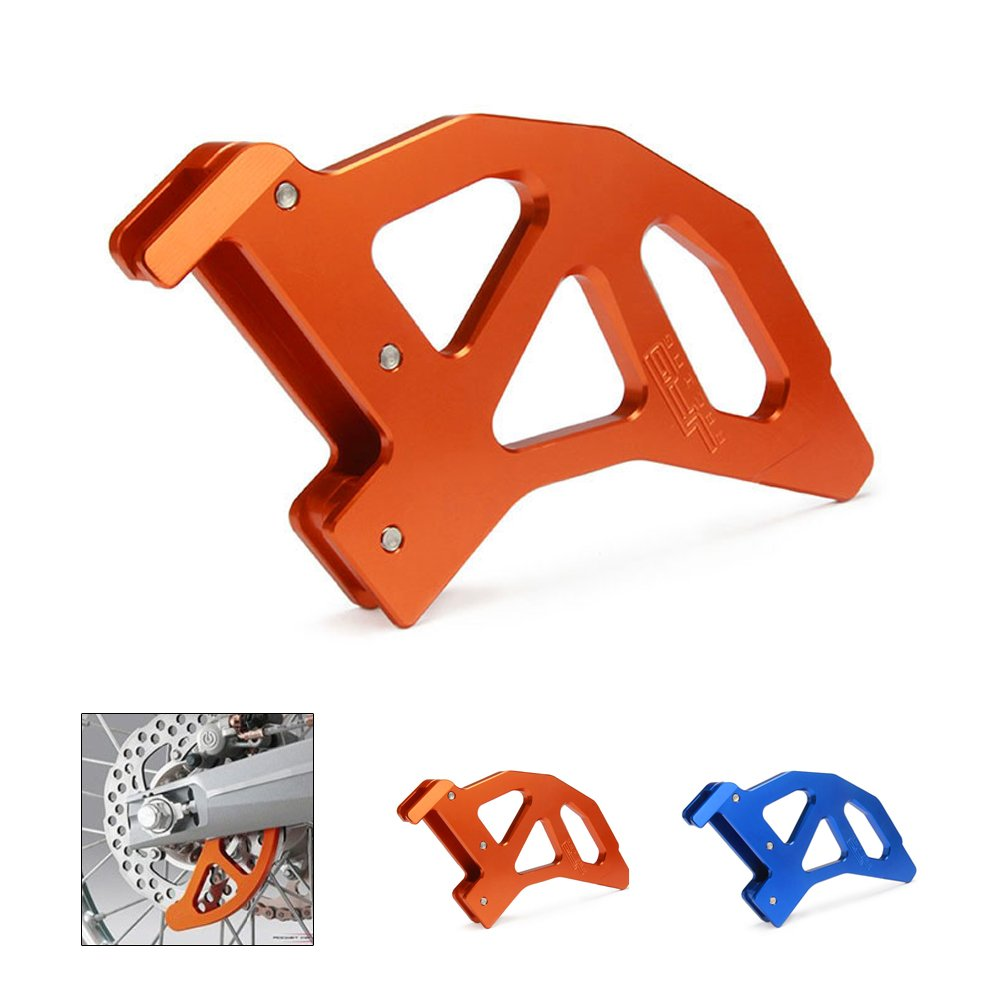 JFG RACING Orange CNC Aluminum Rear Disc Brake Guard For SX EXC XC XCW SXF XCF XCF-W EXC-F EXCR 125-540 TE125 TE250 TE300 Husqvarna Motorcycle Dirt Pit Bike