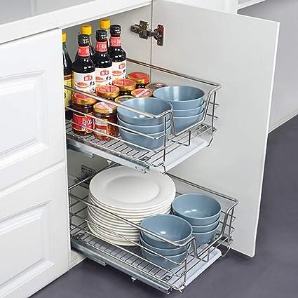 Initial Heart 2x Built In Drawer 60 Cm Telescopic Drawer Kitchen Cabinet Amazon De Home Kitchen