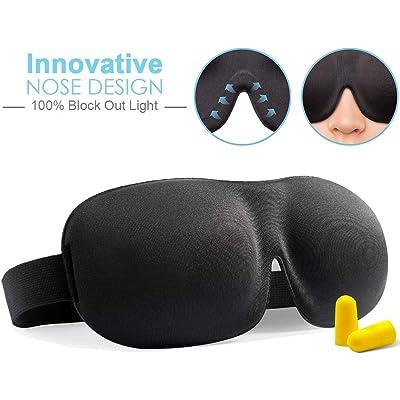 KAILH Antifaz para Dormir, Tapa de Ojo Máscara de Dormir para Mujeres y Hombres, Máscara De Ojos Cómoda y Ultra Suave para El Contorno 3D con Contorno Ajustable.