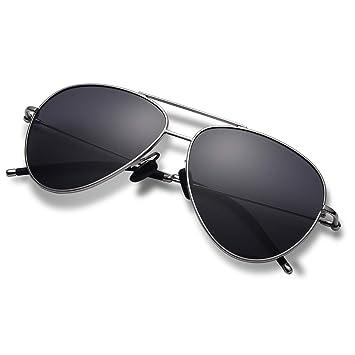 Amazon.com: Hisea Aviator - Gafas de sol para hombre y mujer ...
