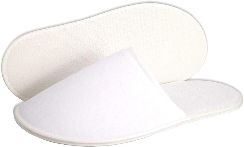 blanc pointure 42 tissu /éponge Carenesse H/ôtel Chaussons XL ouvert Pantoufles pratiques ou confortables ou chaussons dh/ôtel pour les grands pieds en XXL convenant /à de nombreuses o 4 paires 46