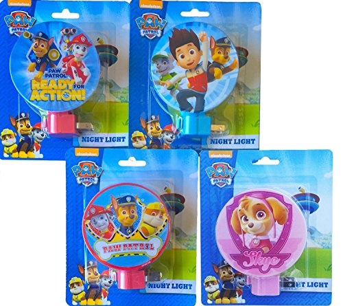 Paw Patrol Night Light- Skye, Marshall, Chase, Rocky, Rubble and Ryder Night Lamp - 4 (Chase Wall Lamp)