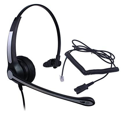 Amazon Com Audicom Corded Rj Headset With Noise Canceling Mic