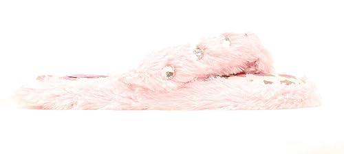 ffd7830ad1d83a Blazin Roxx Girl s Fuzzy Flip Flop Slippers