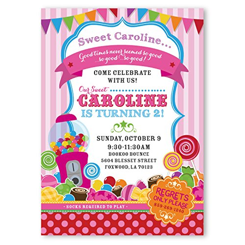 amazon com customized sweet shop candy theme birthday invitations
