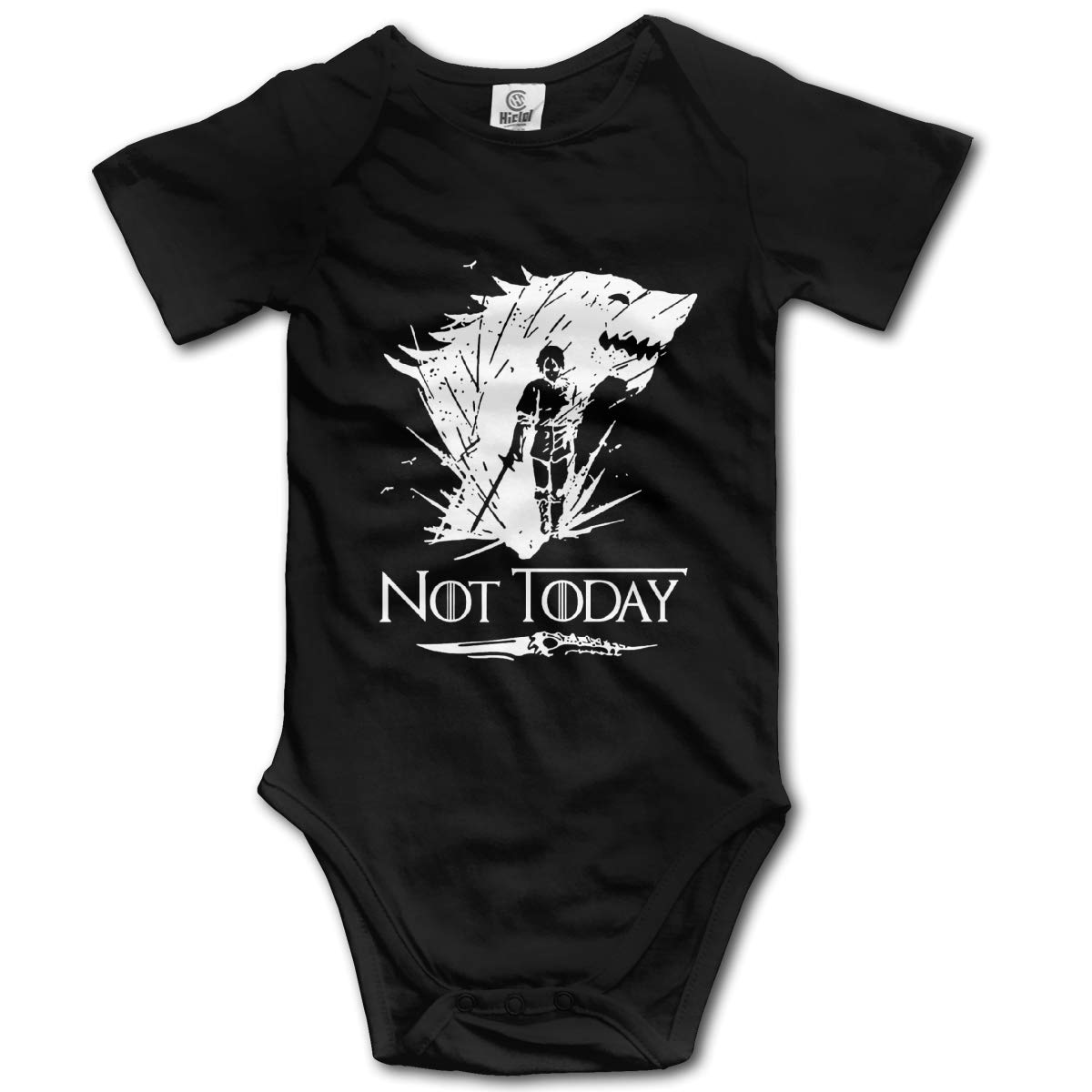 Not-Today-Arya-Stark Unisex Baby Jumpsuit Short Sleeve Onesies Cotton Clothes for 0-24 Months Baby