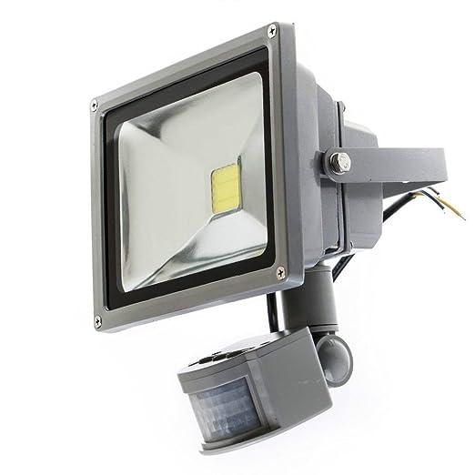 Faro con LED de 10W, luz blanca fría, con sensor