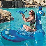 HECHEN Swimming Inflatable Floating Row 198164cm Children's Water Riding Toy Adult Large Peacock Shape Swimming Ring air Bed