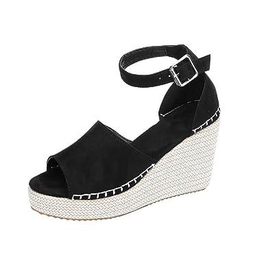 2b0c8586240 Amazon.com: Lurryly Women Summer Sandals,Fashion Dull Polish Sewing ...
