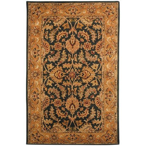Traditional Hand Tufted Sage (Safavieh Heritage Collection HG628A Handcrafted Traditional Oriental Dark Green and Gold Wool Area Rug (8' x 10'))