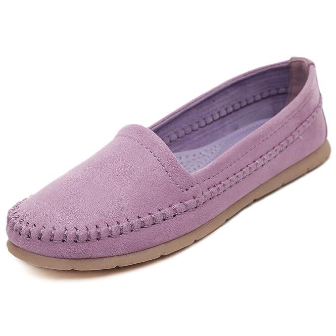 Minetom Mujer Primavera Verano Al Aire Libre Zapatos Zapatos De Los Guisantes Moda Talón Plano Zapatos: Amazon.es: Ropa y accesorios