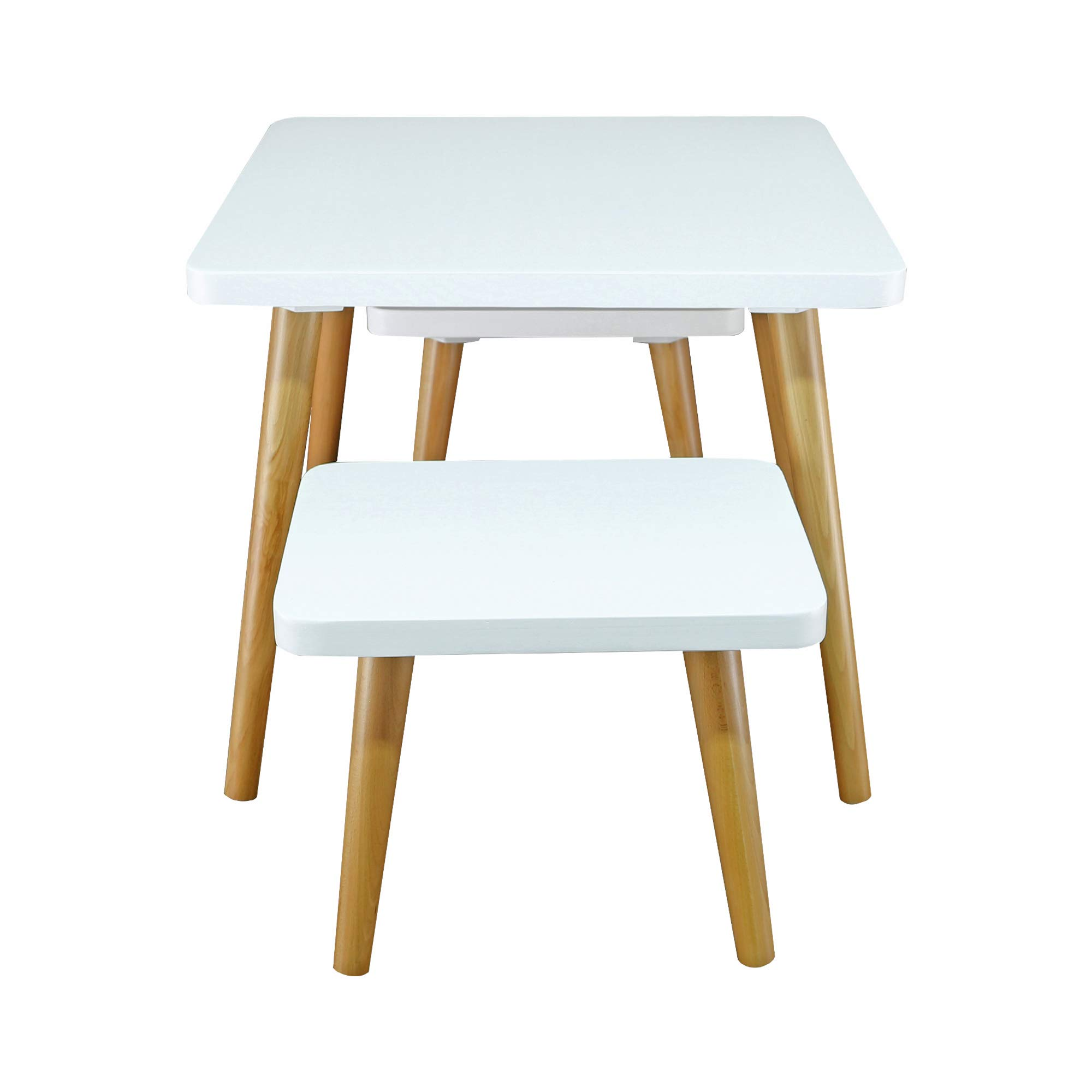 American Trails 560-31 The Easel Table & Chair Set Kid Table, Two-Tone (White, Natural) by American Trails (Image #5)