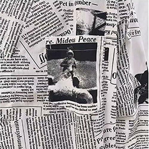 カジュアル シャツ メンズ 新聞柄 長袖シャツ 個性ある 羽織 ファッション 春秋 ストレッチ おしゃれ 肌触りよい トップス