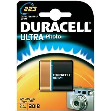 Duracell - Pila especial para cámaras fotográficas - 223 B1 Ultra x 1