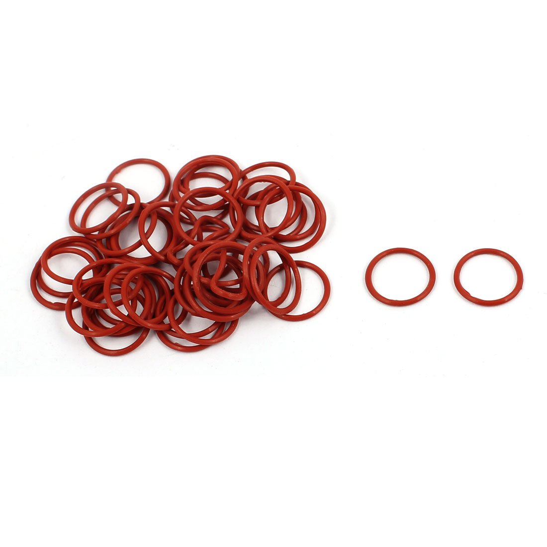 uxcell 20Pcs 14mm x 1mm Rubber O-rings NBR Heat Resistant Sealing Ring Grommets Red