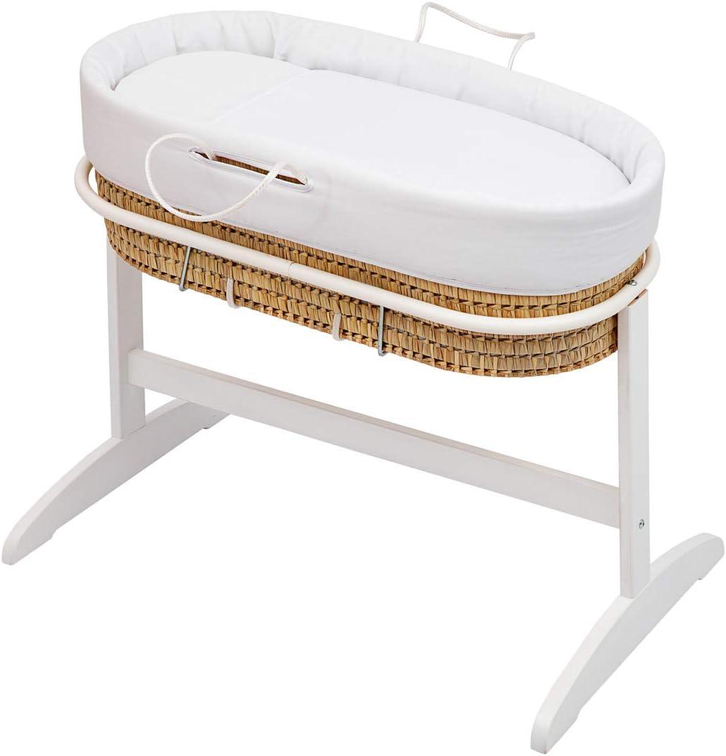 Baby Cotton Pique - Juego de capazo y patas, unisex, color blanco