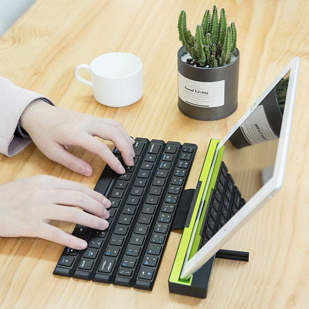 Teclado inalámbrico plegable con Bluetooth – Teclado flexible Roll Up Keyboard suave teclado universal para PC portátil