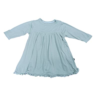 9ed2b2ae5f487 Amazon.com: KicKee Pants Little Girl Long Sleeve Swing Dress, Pond ...