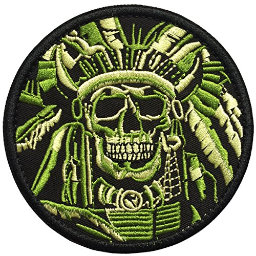 SpaceAuto Death Skull War Chief USA Indian Army Military Tac