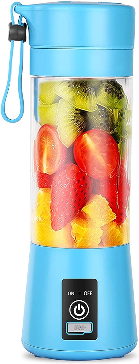 Dr.me Portable Blender, Personal Mixer Fruit Rechargeable with USB, Mini Blender for Smoothie, Fruit Juice, 380ml, Six 3D Blades for Great Mixing