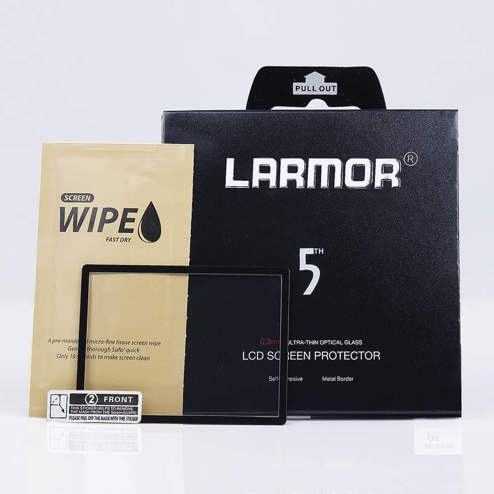 LAemaster GGS 第5世代 0.3mm メタルボーダー 光学ガラススクリーンプロテクター Nikon D810対応   B07JMWSQGF