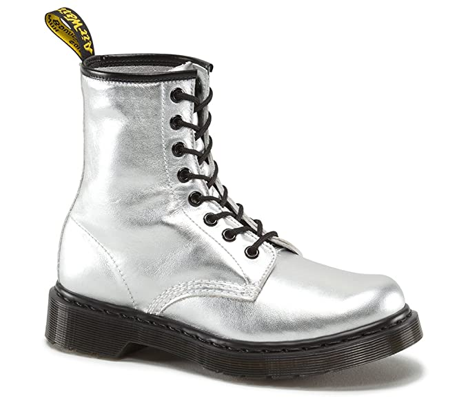 wholesale online where can i buy get online Dr Martens 1460 Metallic Silver Nappa Soft Leather Boots 3 ...