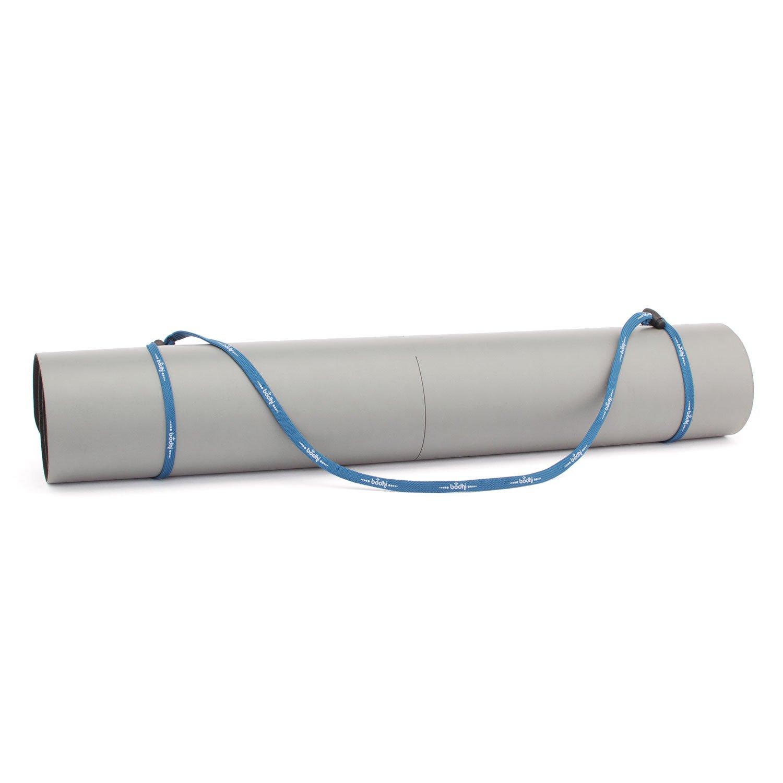 Universal-Yogamatten-Trageband (blau), einfache und günstige Transporthilfe für Yogamatten, verstellbar Bodynova GmbH