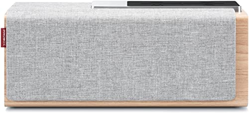 Mediasonic TEANA Sound Bluetooth Speaker with Solid Wood Construction, 20-Watts, and Enhanced Bass, Perfect Wireless Speaker for Home, Office, Outdoor, and Travel. HB22 Grey