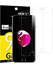 NEW'C Verre Trempé pour iPhone 7,iPhone 8,[Pack de 2] Film Protection écran - Anti Rayures - sans Bulles d'air -Ultra Résistant (0,33mm HD Ultra Transparent) Dureté 9H Glass